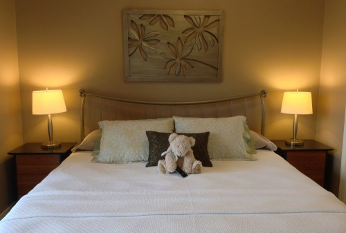 Lakeview Room King Size Bed with Teddy
