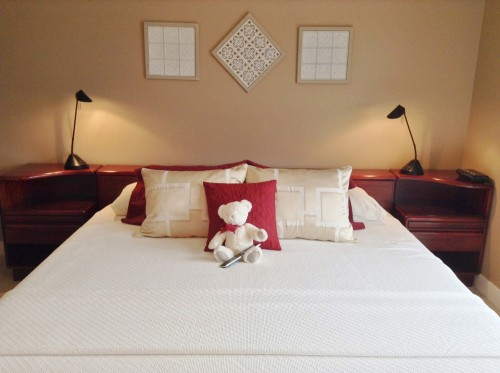 Panorama Room King size bed with Teddy